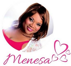 Menesa Signature Picture dressed in Pink & White