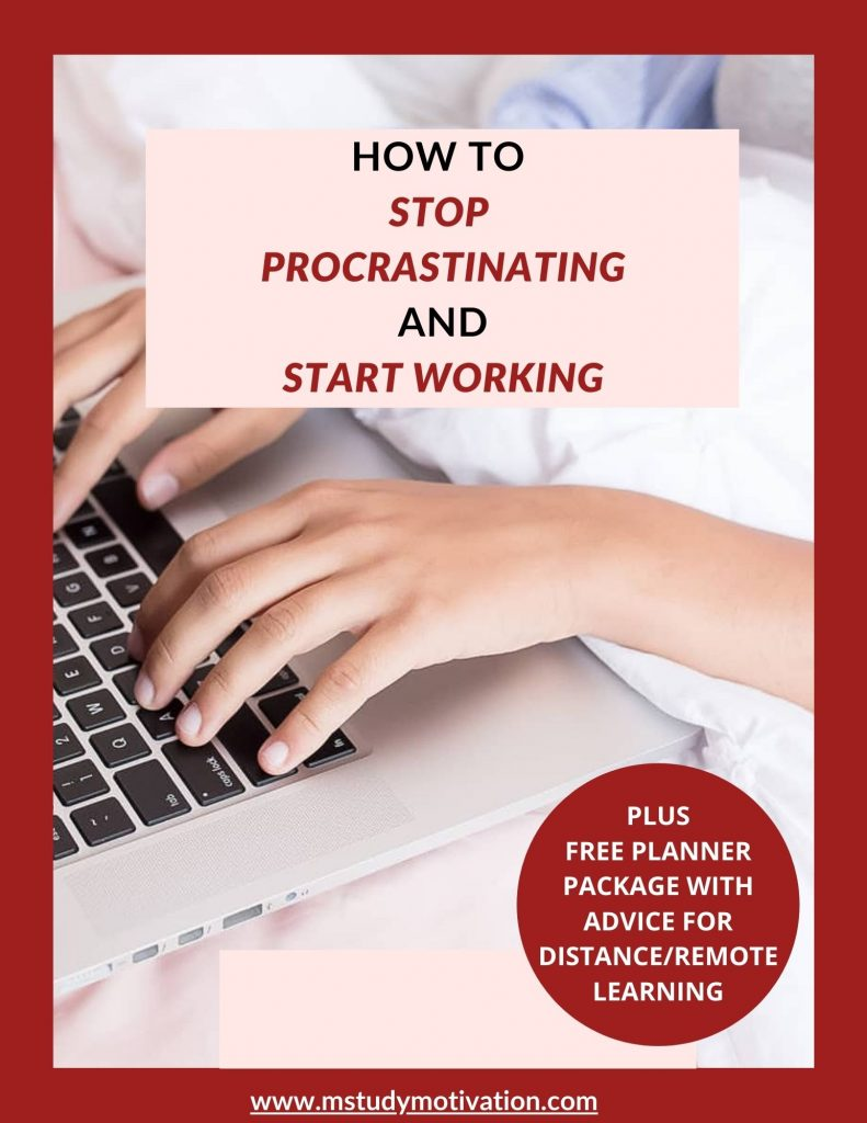 How To stop procrastinating & start working, online learning, study skills, stop procrastinating, academic success, distance learning students, remote learning